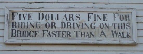 Funny Sign Bridge