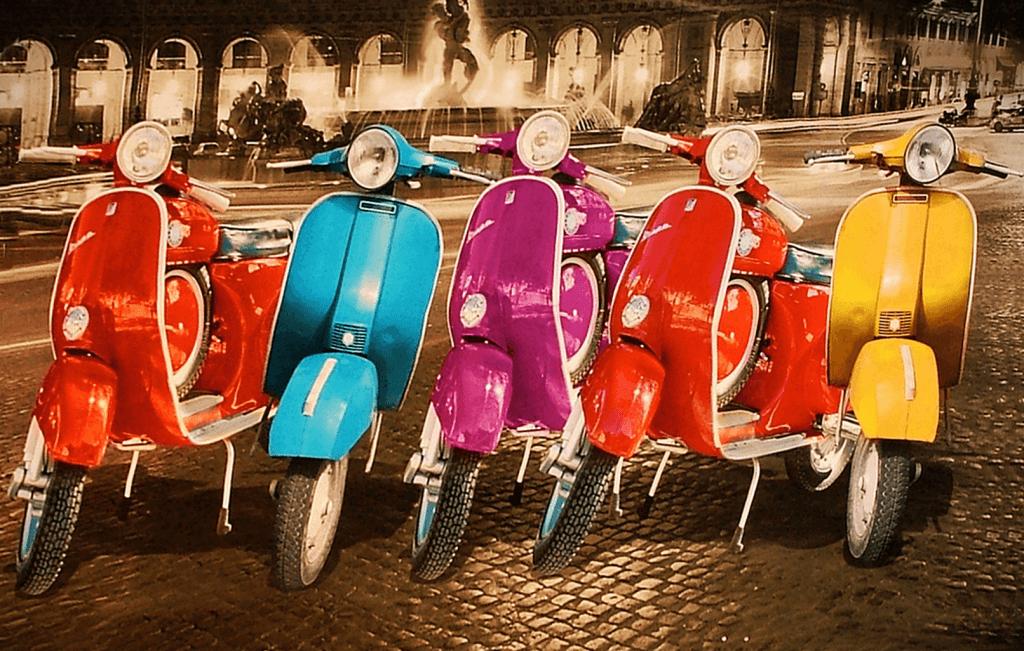 Rome Vintage Vespas