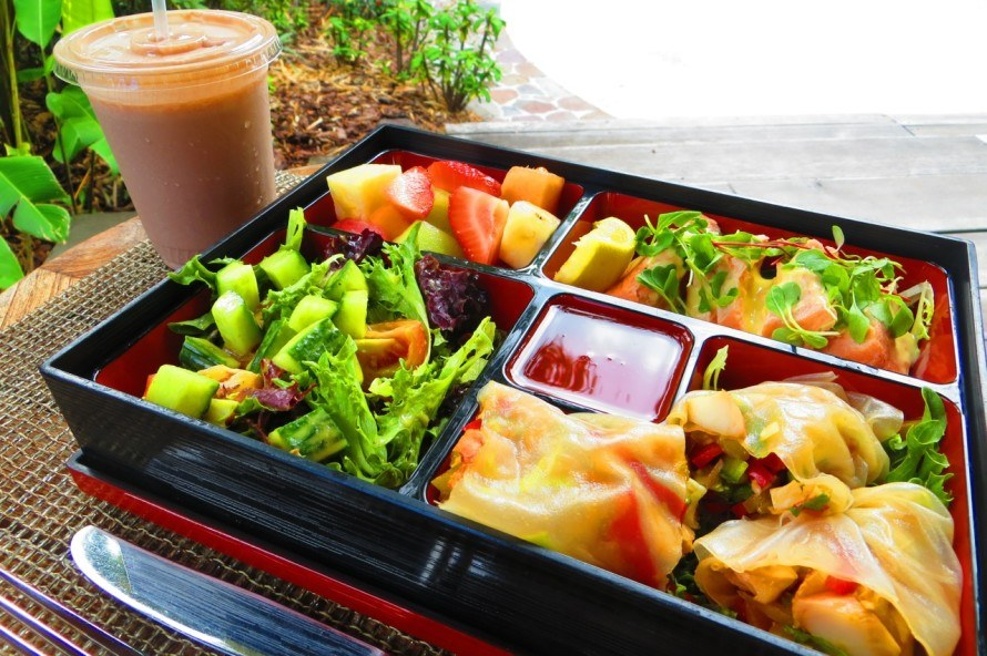 Nevis Four Seasons Spa Bento Box Lunch