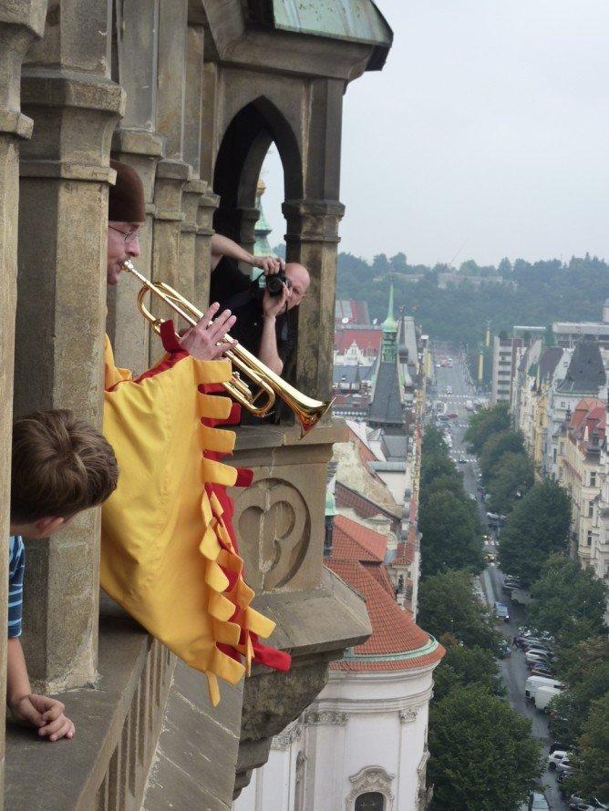 Prague Clock Trumpeter